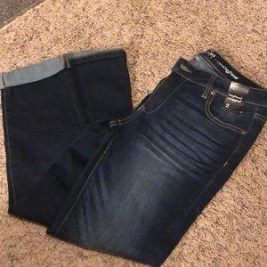New York & Co Boyfriend Cropped Jeans-Size 2-New